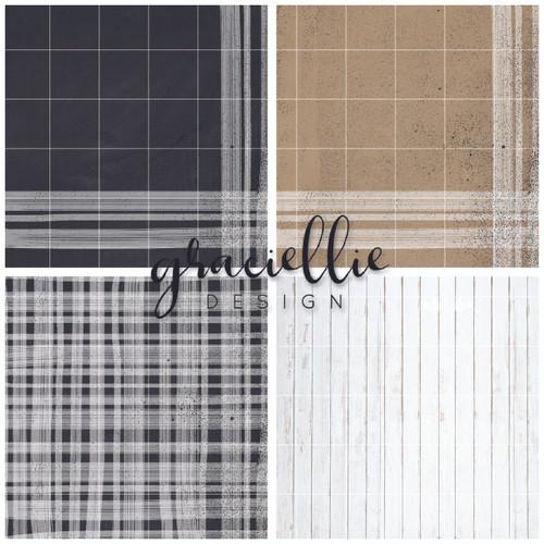 Rustic Textiles {Paper Pack}
