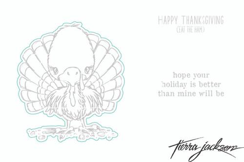 Cuddlebug Turkey - Digital Cut File