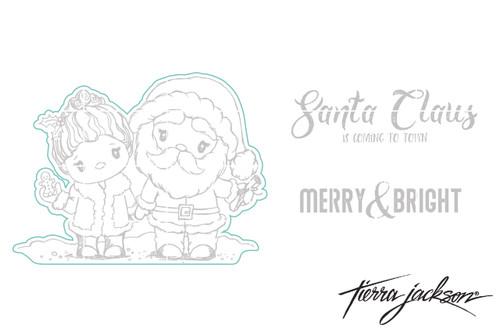 Santa & the Mrs - Digital Cut File