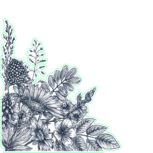 Wildflower Corner - Digital Cut File