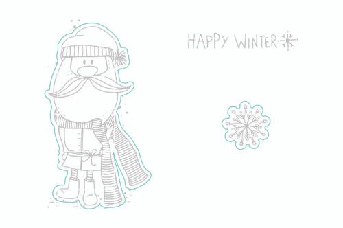 Happy Winter Gnome - Digital Cut File