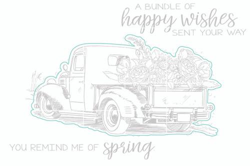 Truckload of Blooms - Digital Cut File