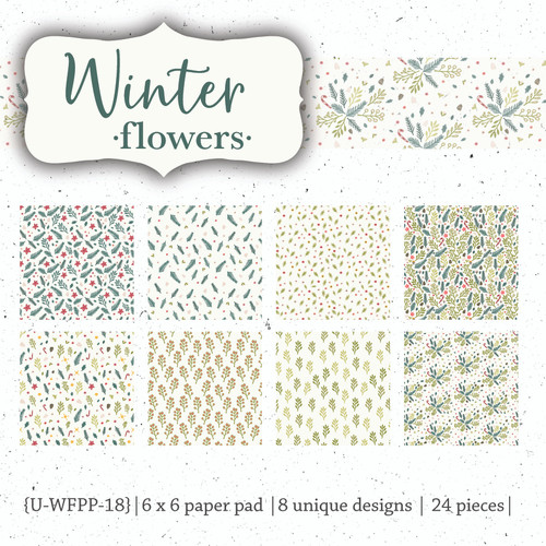 Winter Flowers {paper pack}