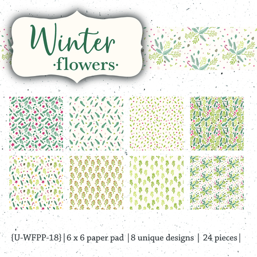 Winter Flowers {paper pack}