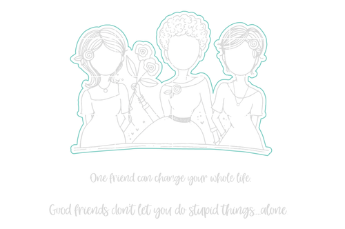 Good Friends. Stupid Things  - Digital Cut File