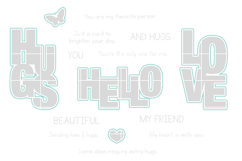 Say It With Love - Digital Cut File