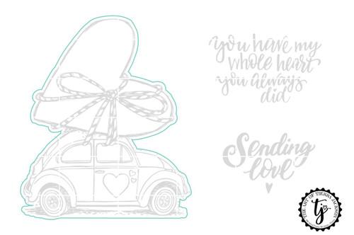 Sending Love Bug - Digital Cut File