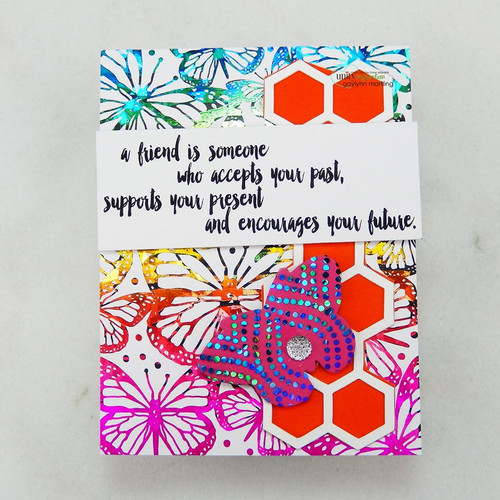 Deco Foil Toner Card Fronts {Butterfly Fly Away}