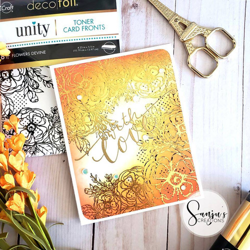Deco Foil Toner Card Fronts {Flowers Devine}