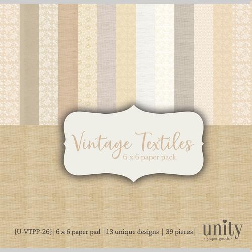 Vintage Textiles {Paper Pack}