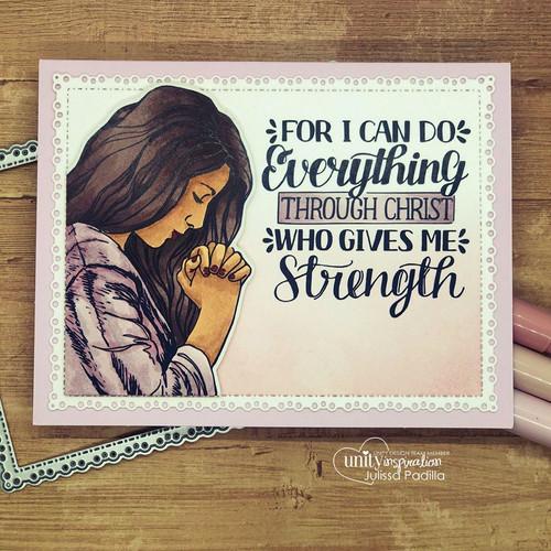 Pray More {digital stamp}