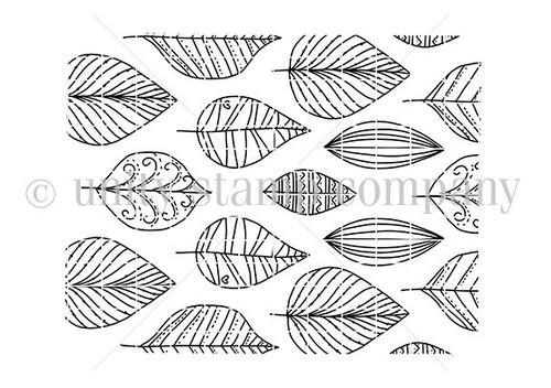 Scattered Leaf Print
