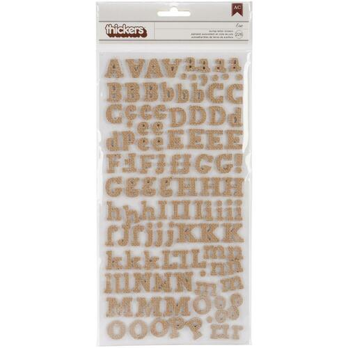 "Thickers Alphabet Stickers 5.5""X11"" 226/Pkg"