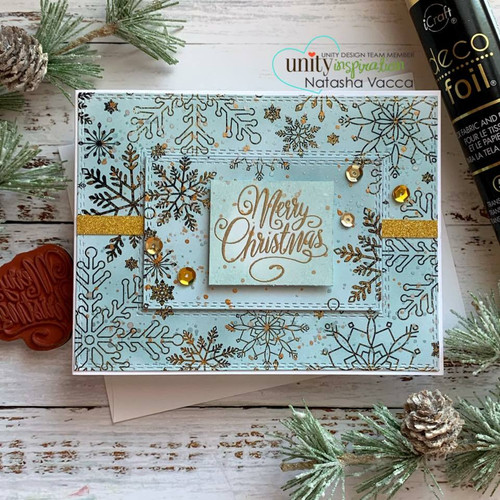 Deco Foil Toner Card Fronts {Snow Many Flakes}