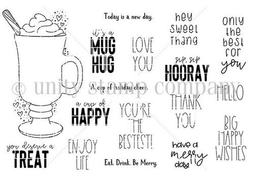 It's A Mug Hug {november 2020 sentiment kit}