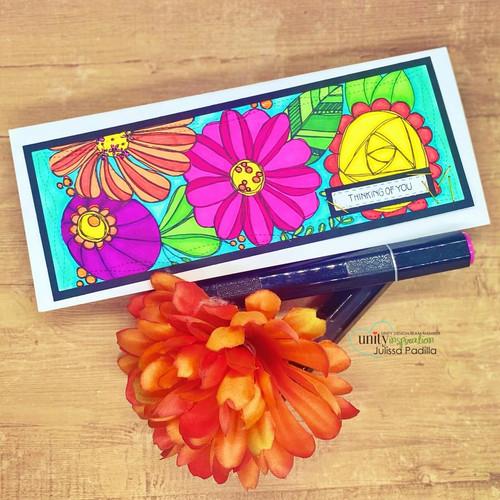Funky Flowers {slimline}