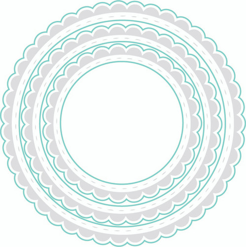 Circle Scalloped {border stamps} - Digital Cut File