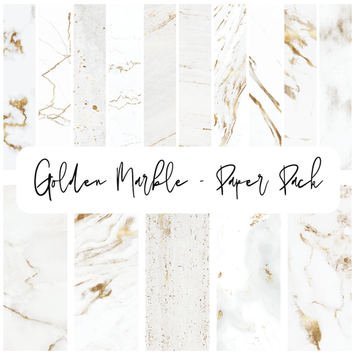 Golden Marble {Paper Pack}