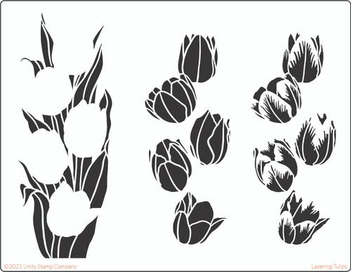Layering Tulip Stencil