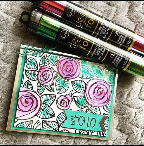 Deco Foil Toner Card Fronts {Rosy Days}