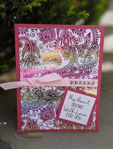 Deco Foil Toner Card Fronts {Paisley Dreams}