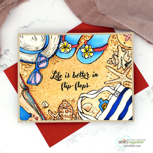 To the Beach {border backgrounds}