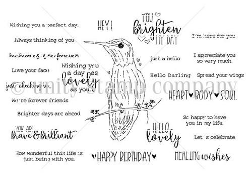 Perfect Day Hummingbird {june 2021 sentiment kit}
