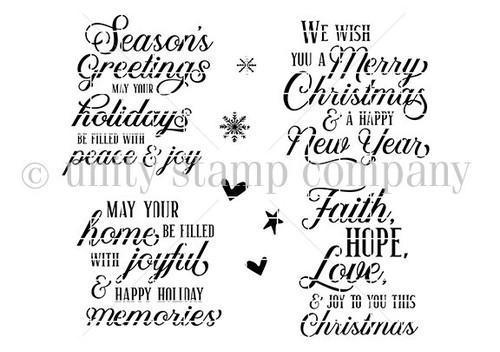 Holiday. Faith. Hope. Love. {october 2021 sentiment kit]