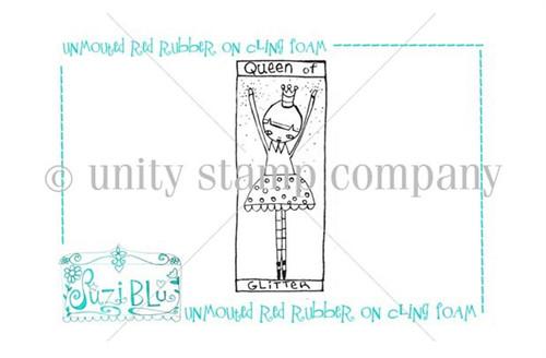Queen of Glitter-Exclusive Stamp by Suzi Blu
