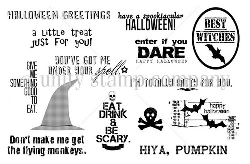 Halloween Chatter {october 2013 sentiment kit}