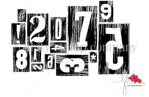 Letterpress Numbers