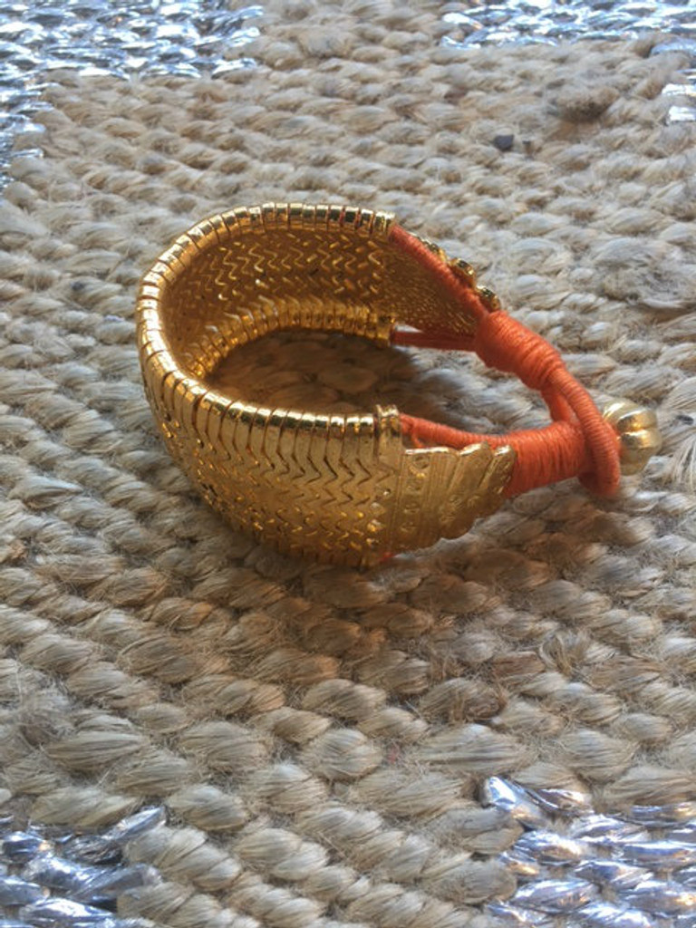 Bazuband Cuff - Gold and Orange