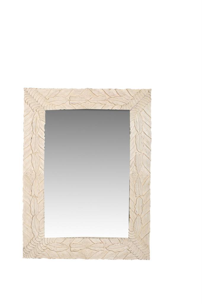 Mirror - Carved Leaves
