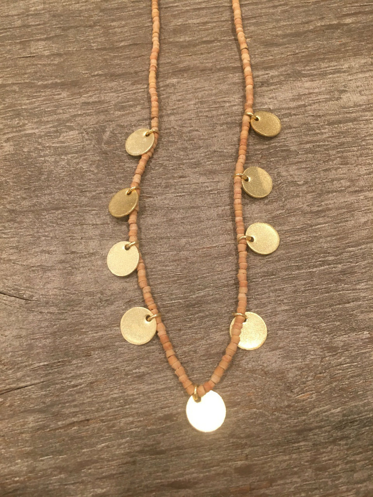 Necklace - Small Bead With Discs