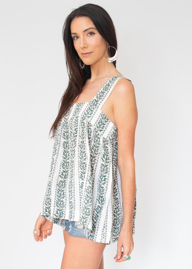 Gela Top - Blue and Green