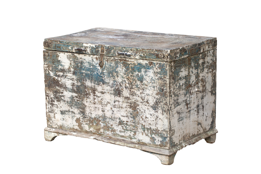 Wood Trunk with Patina