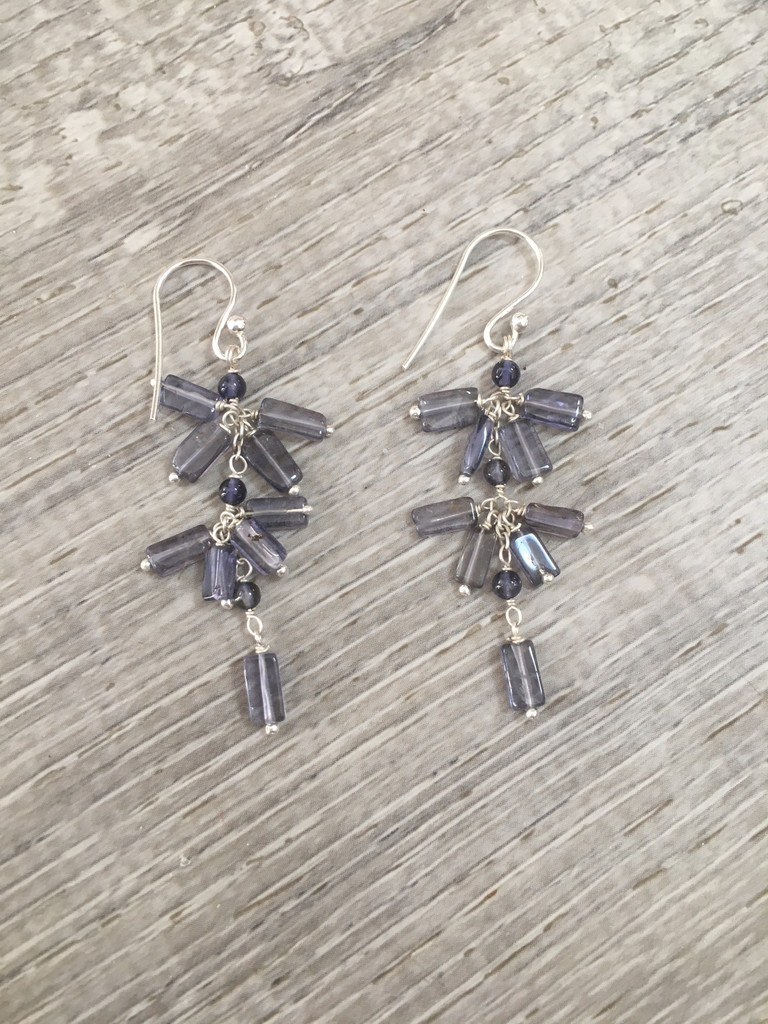 Earrings - Amethyst Cluster