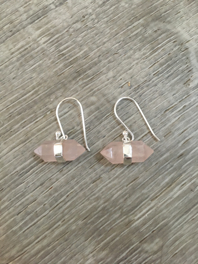 Earrings - Wrapped Rose Quartz