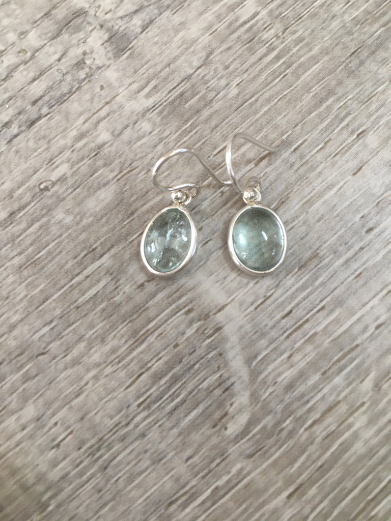 Earrings - Aquamarine Drops