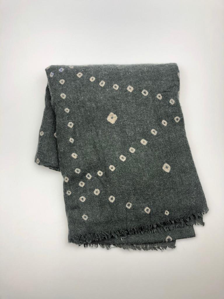 Shawl - Grey Bandhani