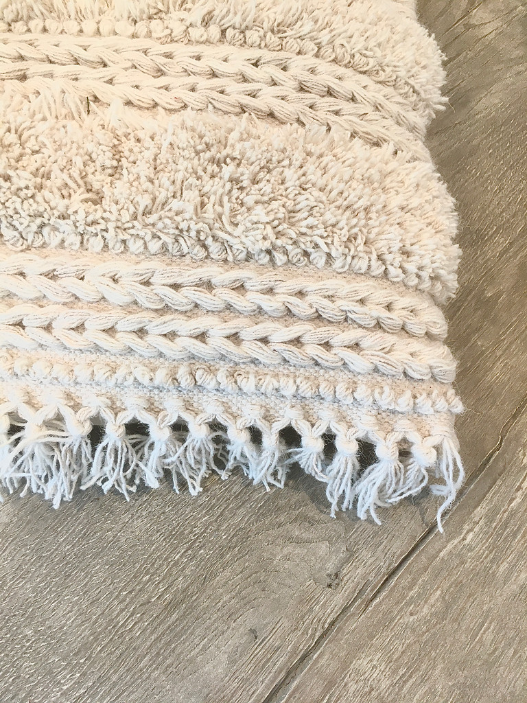 Pillow - Cream Textured Fringe