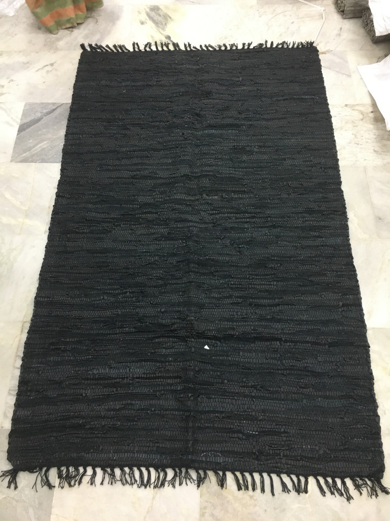 Rug - Black Leather
