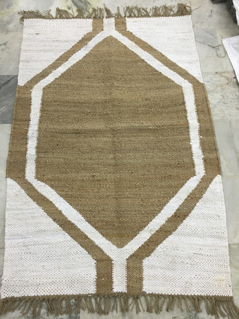 Rug - Jute White and Natural