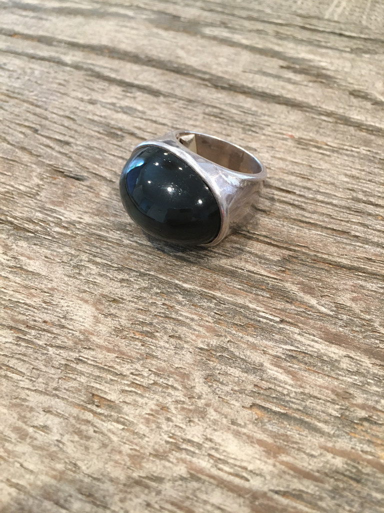 Cocktail Ring - Black Obsidian