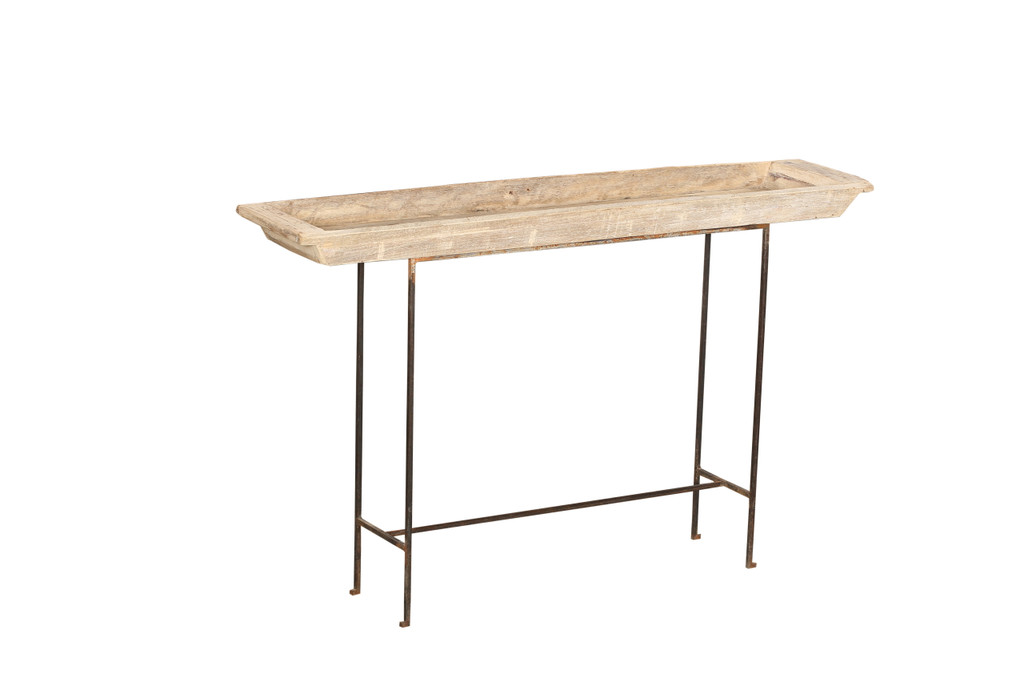 Basin Table with Metal Legs