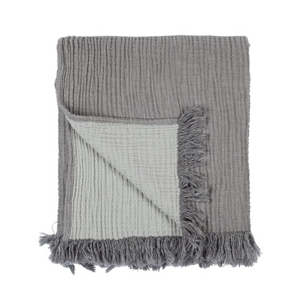 Cocoon Bed Cover / Throw - Dark Grey