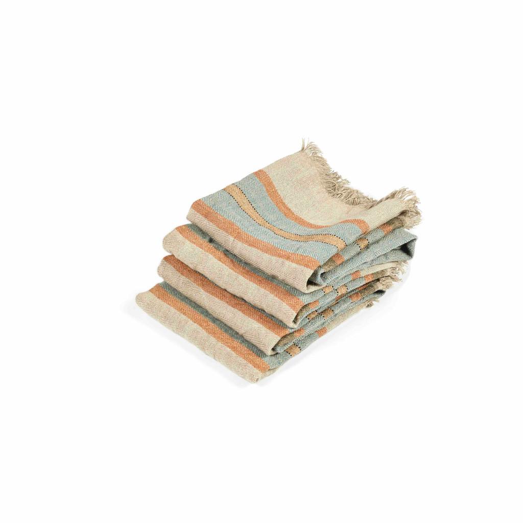 Belgian Guest Towel - Multi-Stripe