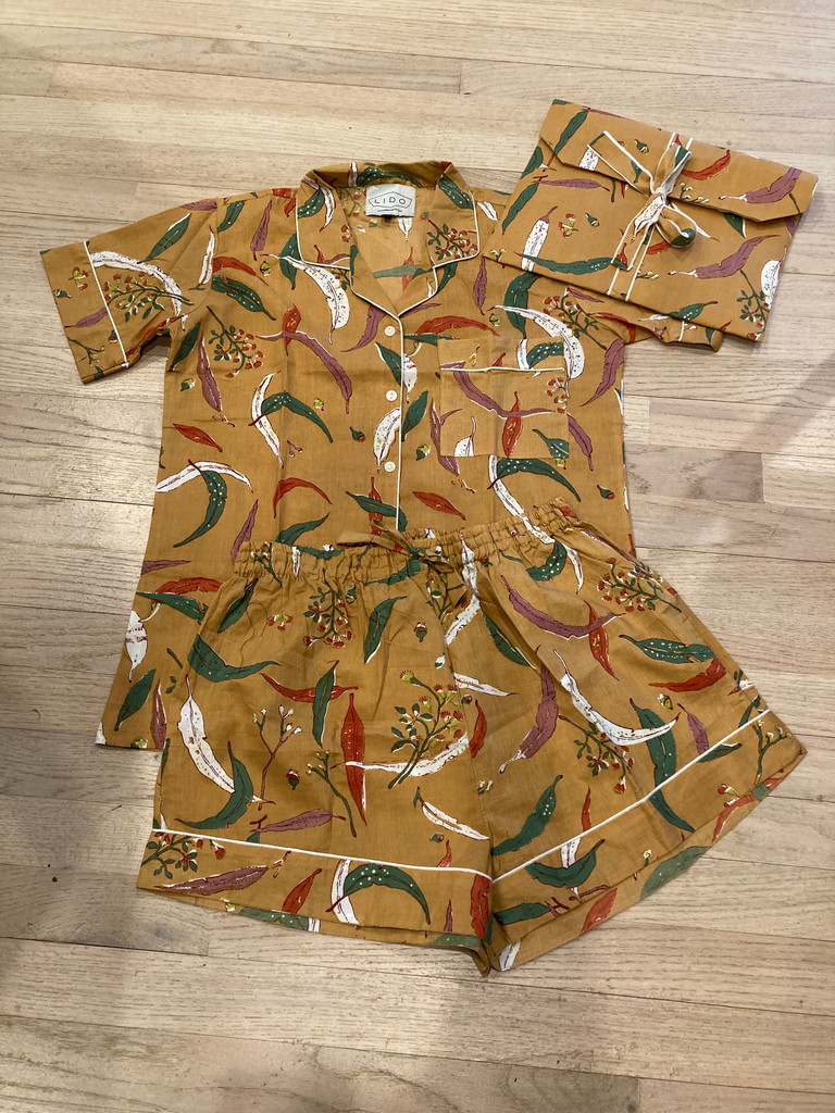 Pajama Short Set - Autumn Leaf