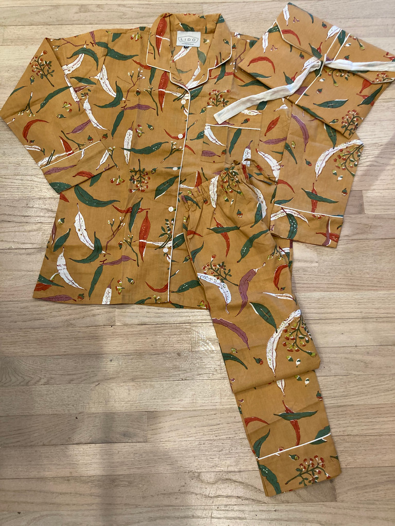 Pajama Set Long - Autumn Leaf