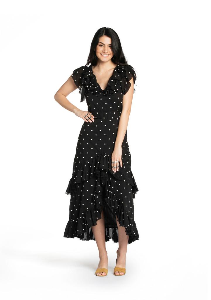 Havana Dress - Black Embroidered
